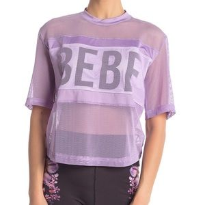 bebe - Short Sleeve Sport Mesh T-Shirt